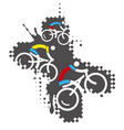 bicycle riders mountain bike vector image