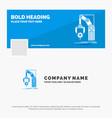 blue business logo template for automation vector image