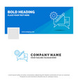 blue business logo template for chat vector image
