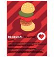 burgers color isometric poster vector image vector image