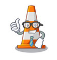 businessman traffic cone on made in cartoon vector image