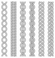 cable weaving knot twisted braid crochet weaving vector image