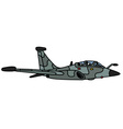Camouflage military jet aircraft vector image