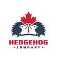 canada hedgehog animal logo design vector image vector image