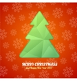 Christmas tree paper card vector image vector image