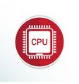 Circuit board icon Technology scheme square symbol vector image vector image