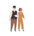 couple with a big age difference flat vector image