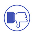 dislike blue icon vector image