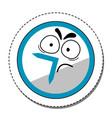 dissatisfied cartoon clock sticker vector image vector image