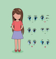 face anime people vector image