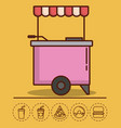 food truck design vector image vector image