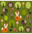 Forest with animals vector image vector image