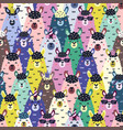 funny llamas colorful seamless pattern childish vector image