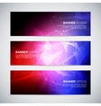 Geometric lowpoly abstract modern banners vector image vector image