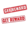 Get reward grunge rubber stamp on white background vector image vector image