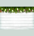 holiday christmas background with branch tree vector image vector image