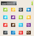 houses icons set vector image vector image