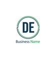 initial letter de logo template design vector image