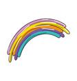 isolated cute rainbow vector image