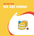 join our team busienss company database we are vector image