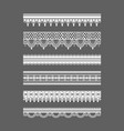 lace borders seamless patterns vector image