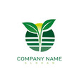 landscaping business icon vector image vector image