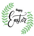lettering for happy easter vector image