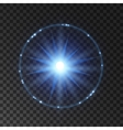 Light flash lens flare or star explosion vector image