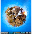 Low Poly trangular trendy Art background for your vector image vector image