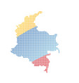 map of colombia with flag vector image vector image