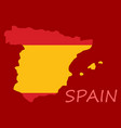 map of spain with national flag isolated on white vector image vector image