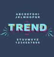 modern bold font and alphabet vintage vector image