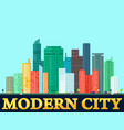 modern colorful city background vector image