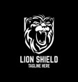 modern lion shield logo vector image
