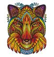 ornamental fox vector image vector image