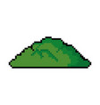 pixelated bush game icon vector image vector image