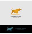 powerful bull logo vector image