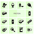 protein icons vector image vector image