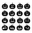 pumpkins icons halloween pumpkin vector image