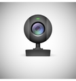 Realistic white webcam icon vector image