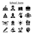 school education learning icon set vector image vector image