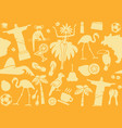 seamless background on a theme brazil vector image vector image