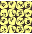Seamless background with Mexican relics dingbats vector image vector image