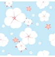 Seamless cotton plant vector image