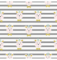 seamless kid pattern with cute bears vector image vector image