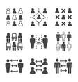 social distancing icon set vector image