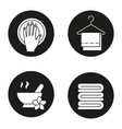 spa salon icons set vector image