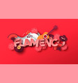 spanish flamenco music style paper cut icons vector image vector image