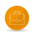 suitcase icon design vector image vector image