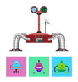 technology and creatures set vector image vector image